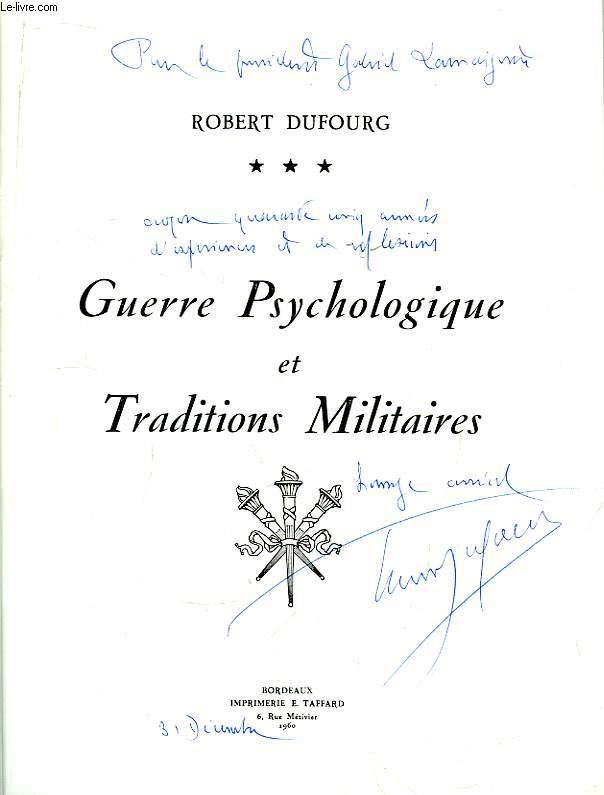 Guerre Psychologique et Traditions Militaires.