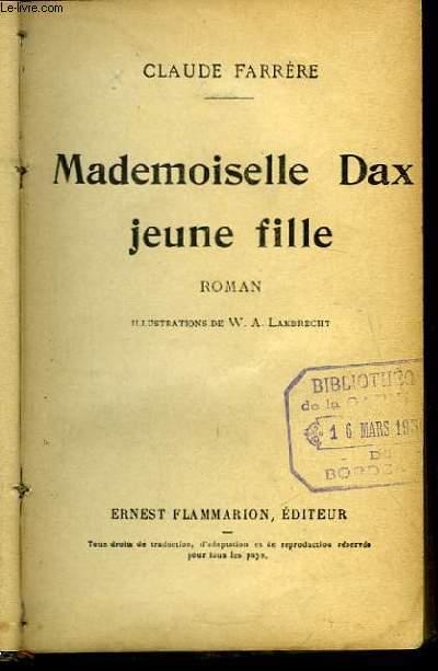 Mademoiselle Dax, jeune fille.