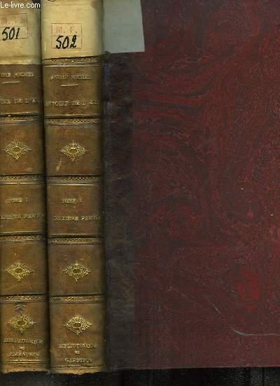 Histoire de l'Art depuis les premiers temps chrétiens jusqu'à nos jours. TOME 1, en 2 VOLUMES : Des débuts de l'Art Chrétien à la Fin de la Période Romane.