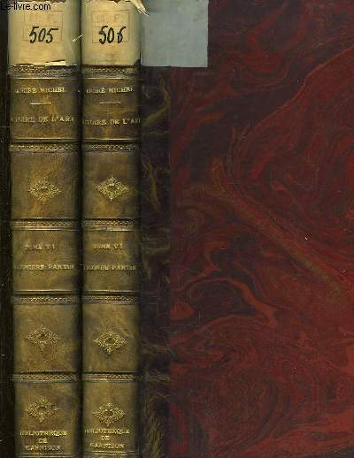 Histoire de l'Art depuis les premiers temps chrétiens jusqu'à nos jours. TOME 6, en 2 VOLUMES : L'Art en Europe au XVIIe siècle