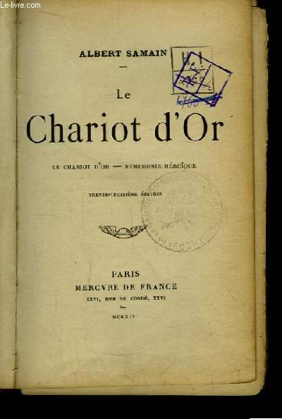 Le Chariot d'Or. Symphonie héroïque.