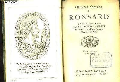 Oeuvres choisies de Ronsard. Notices et Annotations par Gauthier-Ferrières