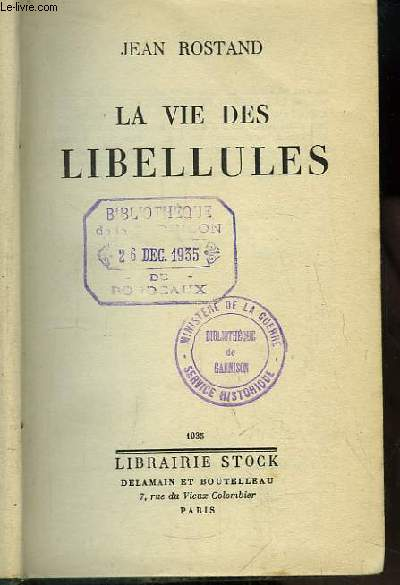 La vie des Libellules.