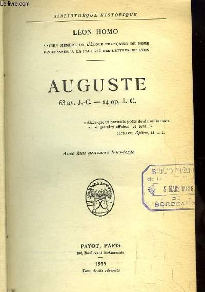 Auguste. 63 av. J.-C. - 14 ap. J.-C.