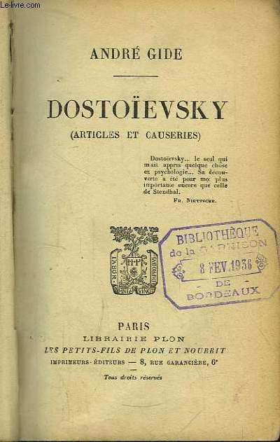 Dostoïevsky (articles et causeries)