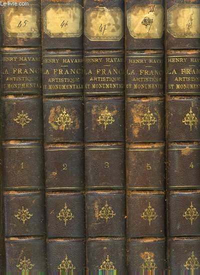 La France Artistique et Monumentale. EN 5 VOLUMES (Sur 6, manque le Tome 6)