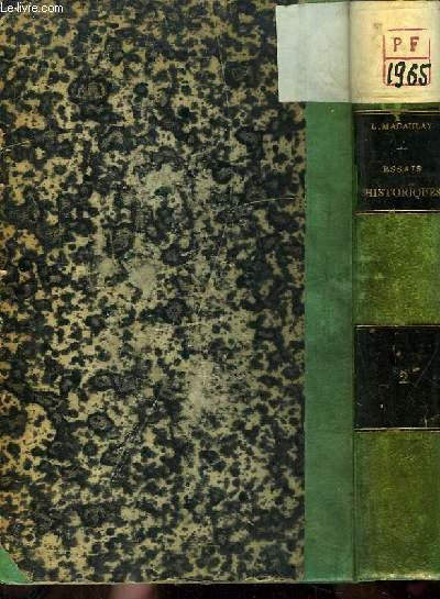 Essais Historiques et Biographiques. 2ème série : Lord Chatham - William Pitt, son fils - Frédéric Le Grand - Mirabeau - Barère.