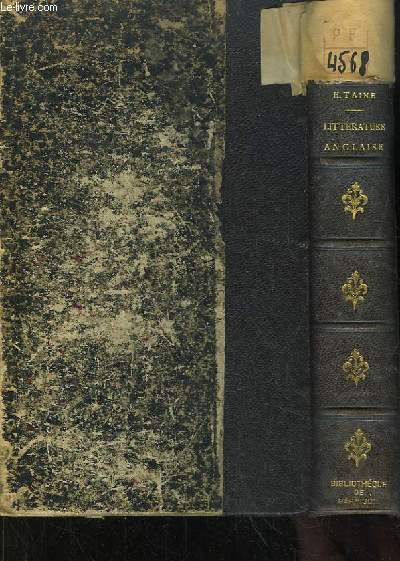 Histoire de la Littérature Anglaise. TOME 4 et Complémentaire : Les Contemporains.