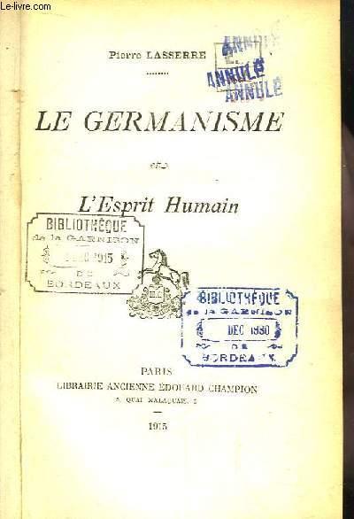 Le Germanisme et l'Esprit Humain