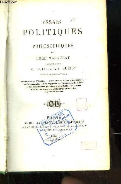 Essais Politiques et Philosophiques.