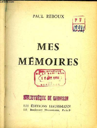 Mes Mémoires.