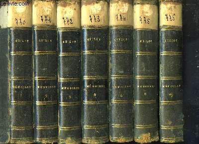 Mémoires pour servir à l'Histoire de mon Temps. 7 PREMIERS VOLUMES (Sur 8)