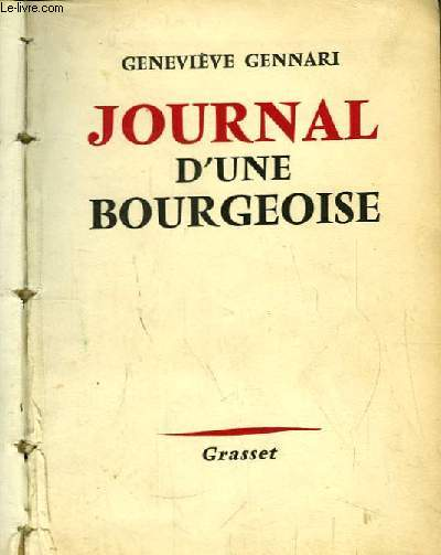 Journal d'une Bourgeoise. Roman