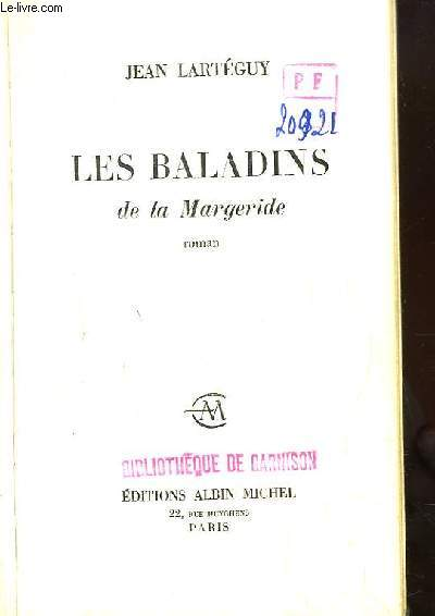 Les Baladins de la Margeride. Roman