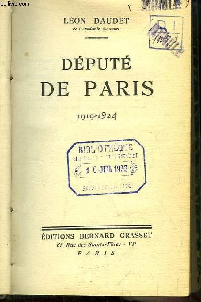 Député de Paris. 1919 - 1924
