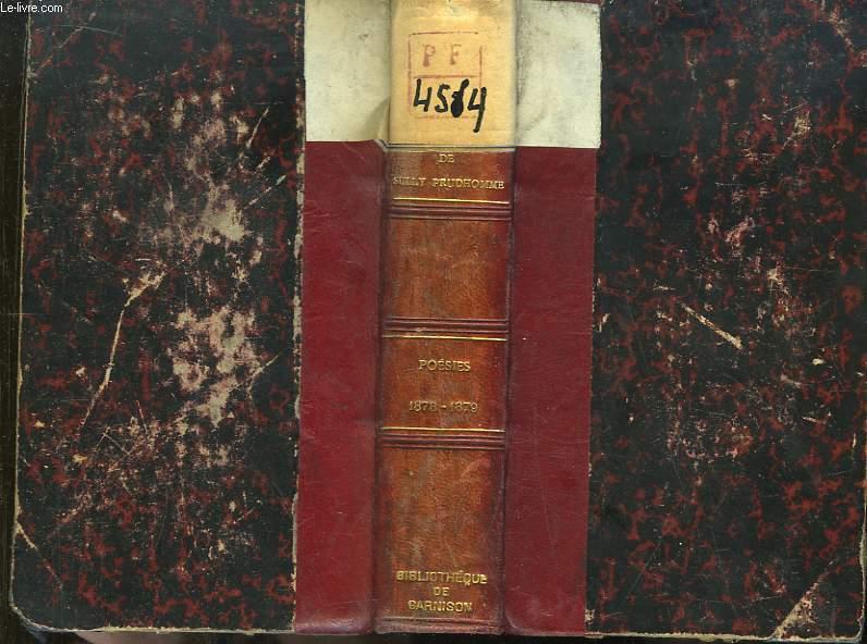 Oeuvres de Sully Prudhomme. Poésies 1878 - 1879. Lucrèce : De la nature des choses, 1er Livre. La Justice.