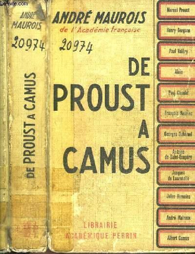 De Proust à Camus.