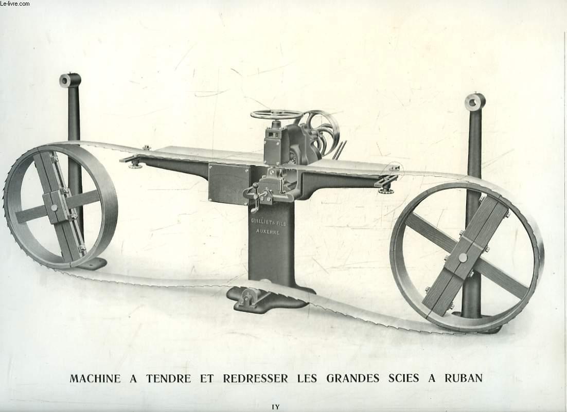 album guilliet fils machines travailler le bois auxerre paris 1914 etablissements. Black Bedroom Furniture Sets. Home Design Ideas