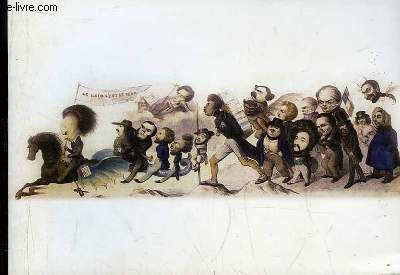 Carte de voeux, comportant la Reproduction d'une Lithographie en couleurs