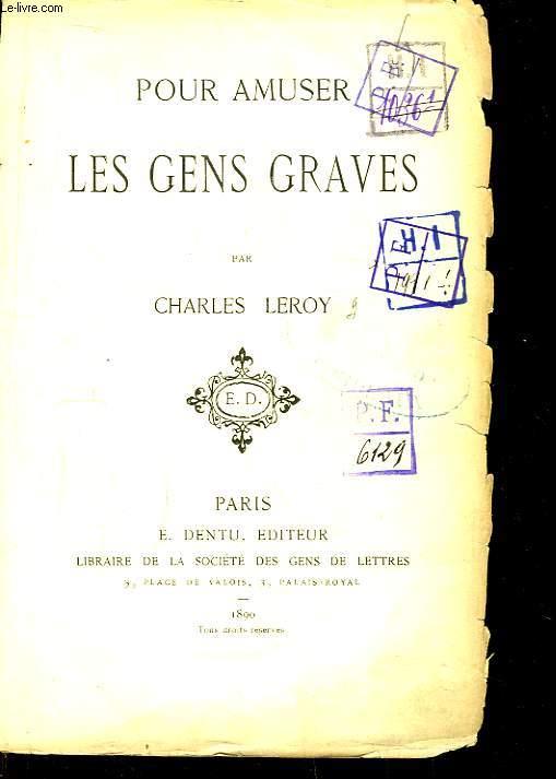 Pour amuser les Gens Graves