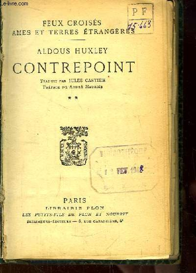 Contrepoint. TOME 2