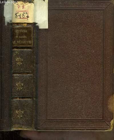 Lettres choisies de Madame de Sévigné. Accompagnés de notes explicatives sur les faits et les personnages du temps. Précédées d'observations littéraires par Sainte-Beuve.