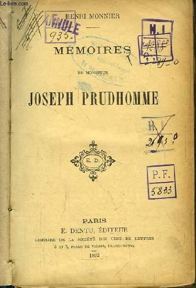 Mémoires de Monsieur Joseph Prudhomme.