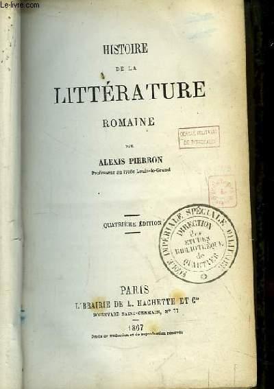 Histoire de la Littérature Romaine.