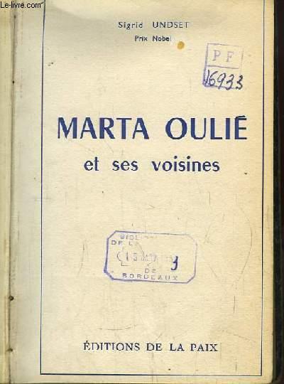 Marta Oulié et ses voisines.