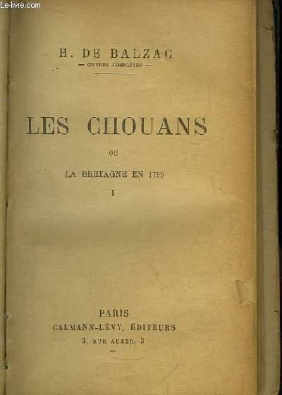 Les Chouans, ou la Bretagne en 1799. TOME 1