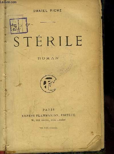 Stérile. Roman