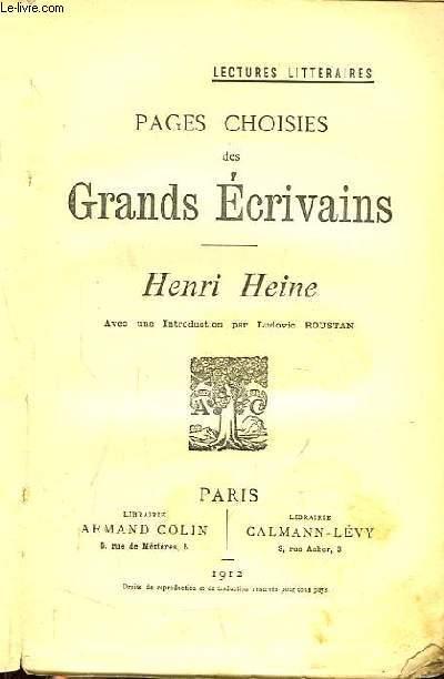 Pages choisies des Grands Ecrivains. Henri Heine.