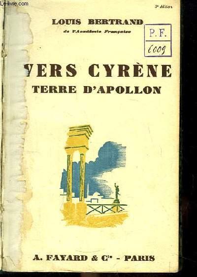 Vers Cyrène, Terre d'Apollon.