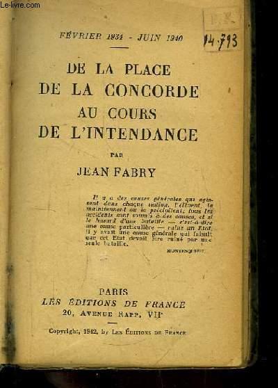De la Place de La Concorde au Cours de L'Intendance