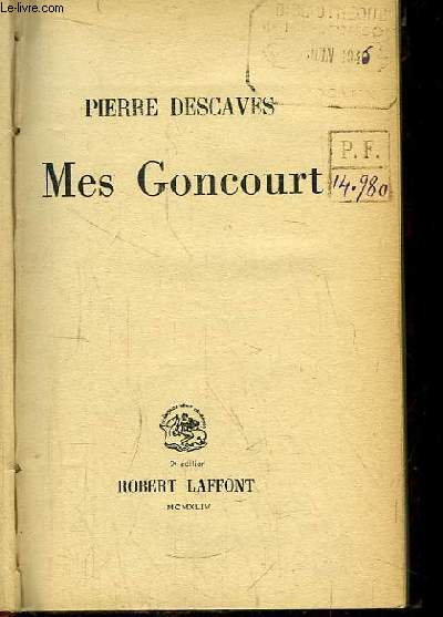 Mes Goncourt.