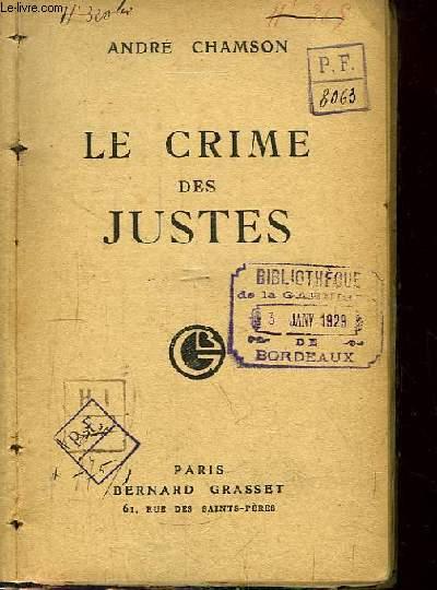Le crime de Justes.