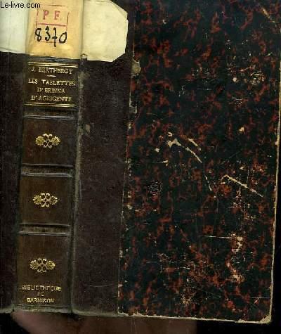 Les Tablettes d'Erinna d'Agrigente.