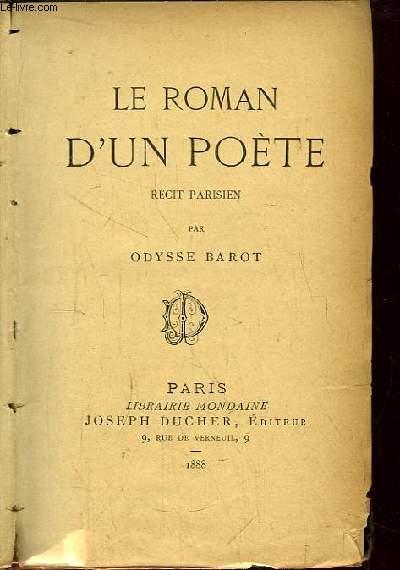 Le Roman d'un Poète. Récit parisien.