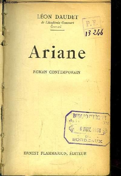 Ariane. Roman contemporain