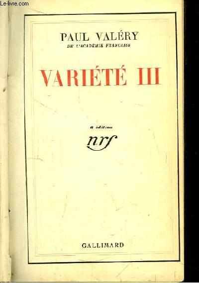 Variété III
