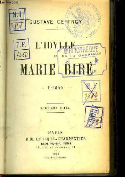 L'Idylle de Marie Biré.