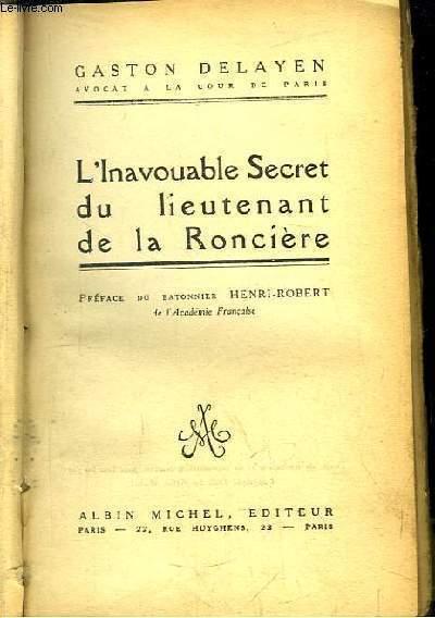 L'Inavouable Secret du lieutenant de la Roncière.