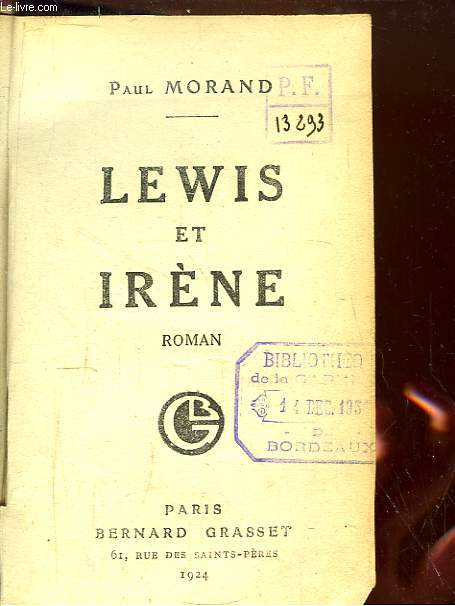 Lewis et Irène.