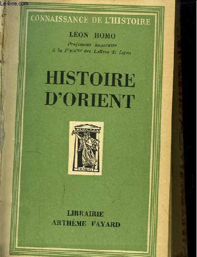 Histoire d'Orient.