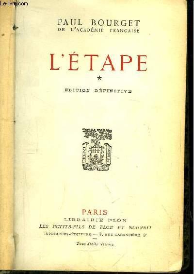 L'Etape. TOME 1