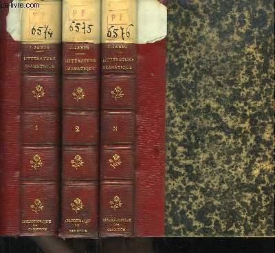Histoire de la Littérature Dramatique. TOMES 1, 2 et 3