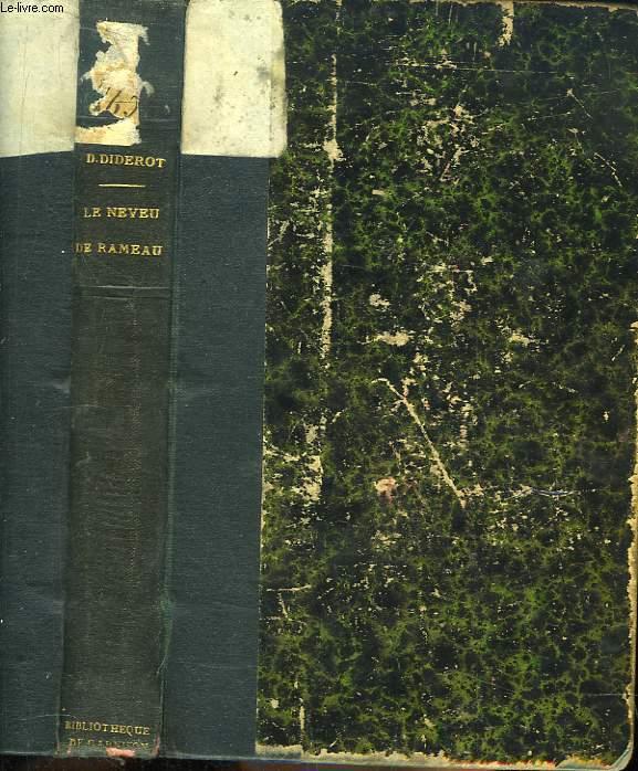 Le Neveu de Rameau. Suivi d'autres oeuvres du même auteur, présentées par André Billy.