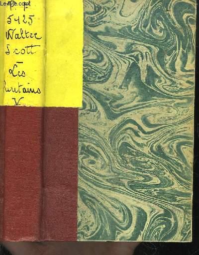 Oeuvres de Walter Scott. TOME 5 : Conte de mon hôte, 1ère série. Le Nain Noir - Les Puritains d'Ecosse.
