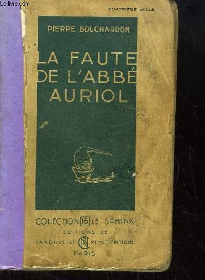 La Faute de l'Abbé Auriol.