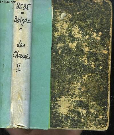 Les Chouans ou la Bretagne en 1799. TOME II. Suivi de Une Passion dans le désert.